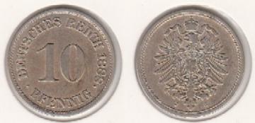 Mescide Sammlerzubehör 10 Pfennig Deutsches Reich 1888j