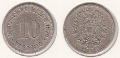 Mescide Sammlerzubehör 10 Pfennig Deutsches Reich 1876c