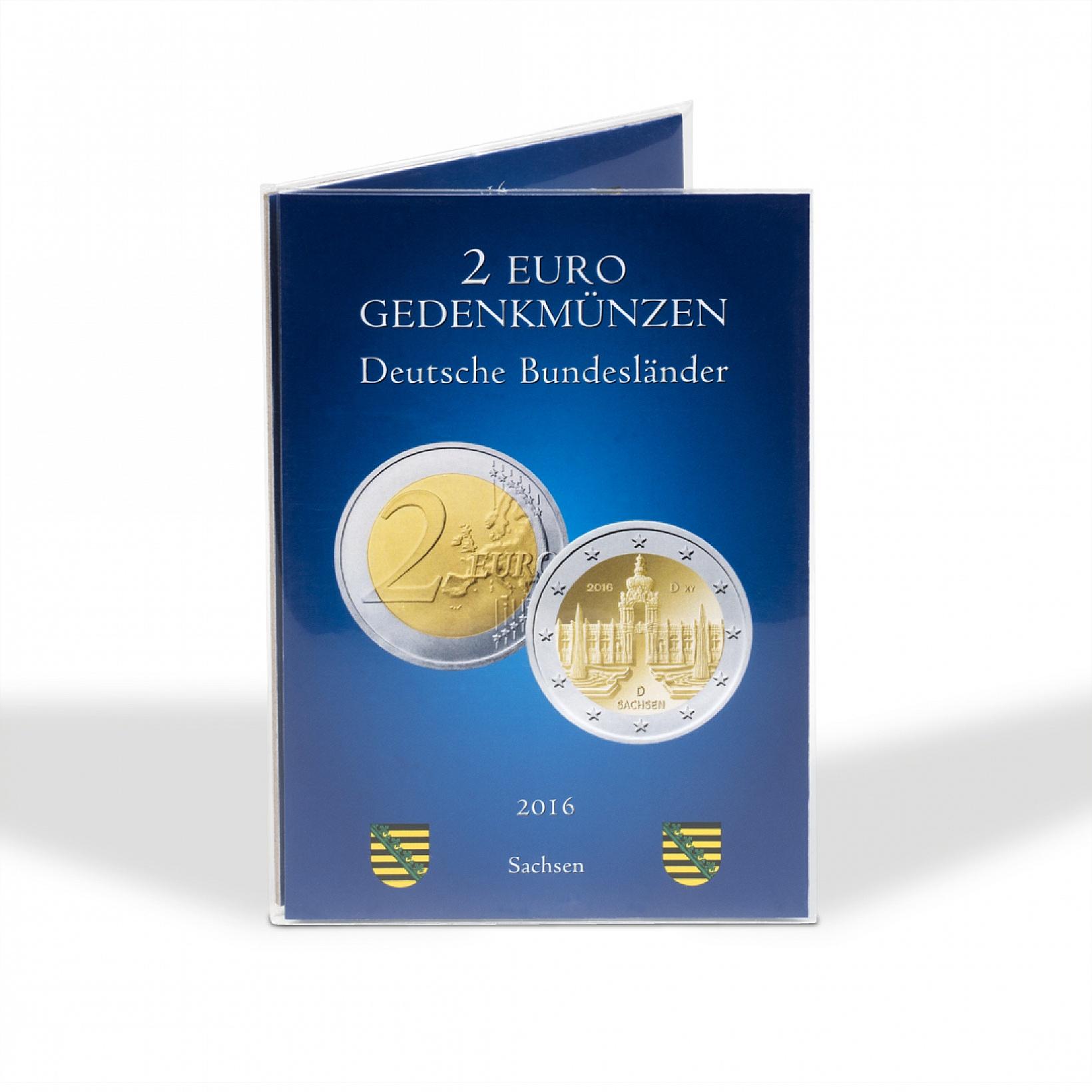 Mescide Sammlerzubehör Münzkarte Für 2 Euro Münzen Brd Sachsen