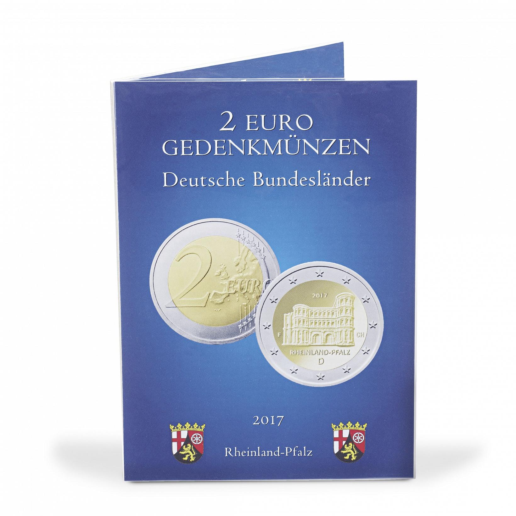 Mescide Sammlerzubehör Münzkarte Für 2 Euro Münzen Brd Rheinland